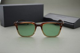 SICAK! Custom orijinal vaka ile NDG-1-P güneş gözlükleri erkek ve kadın Vintage kare güneş gözlüğü ov5031 mercek Oliver halkları boyalı indirimde