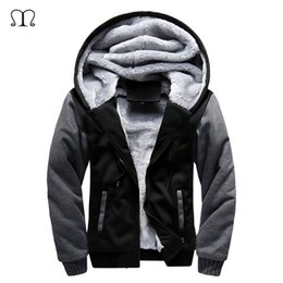 $enCountryForm.capitalKeyWord Canada - 5XL Fleece Hoodies Men Winter Warm Mens Hooded Jackets Tracksuits Outwear Patchwork Sportswear Thicken Wool US Size Sweatshirts S18101706