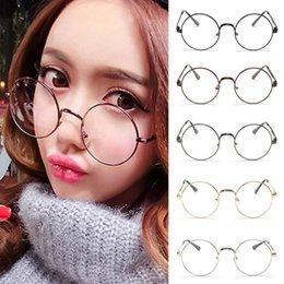 spectacles gold frame 2019 - Retro Alloy Vintage Round Glasses Frame Spectacle Plain Glasses Eyeglasses Eyewear gafas De Sol cheap spectacles gold fr