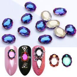 $enCountryForm.capitalKeyWord Australia - 10pcs Nail Art Decorations Rhinestones Oval Mirror Crystal Diamond Glass Gem Stone Strass 3D Charm Jewelry Accessories JIR10