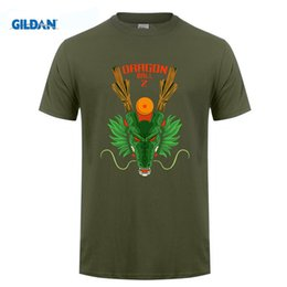 Barato Dragão De Manga Longa T-Flevans Men Fashion Anime T Shirt Dragon Ball Z Shenron T-shirt Long Sleeve Cool T-shirt Unisex Impresso