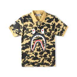 $enCountryForm.capitalKeyWord NZ - Ape shark heart shorts tee Jaw Camo Polo shirt Print Color Off Men White for Summer sport short Pablo fear god free shipping