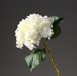 Chinese  silk hydrangea flower for wed bouquet wed decoration decorative artificial flower in white royal blue manufacturers