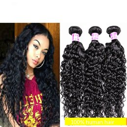 $enCountryForm.capitalKeyWord Australia - 7A Brazilian Human Hair Weaves Water Wave Hair Extension 3 4 Bundles Non Processed 12-26 Inch Hair Wefts