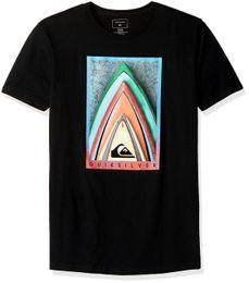 Quiksilver homens empilhados MOD camiseta t-shirt - escolha SZ / cor moda manga curta venda 100% algodão camiseta impressão O pescoço curto venda por atacado