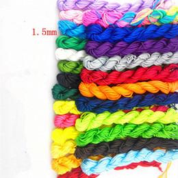 1.5mm geflochtenes Seilarmband, rote Linie, handgemachtes Seil, chinesischer Knotendraht, DIY Schmuckmaterial.