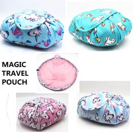 magic cosmetics NZ - Unicorn Vely Useful Cosmetic Bag Drawstring Wash Bags Makeup Organizer Storage Travel Pouch Make Up Bag Magic Toiletry Bags Fashion