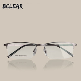 12ccc30a9424 BCLEAR Eyeglasses brand titanium eyewear men optical frame glasses fashion  myopia eyeglasses half frame high quality T020