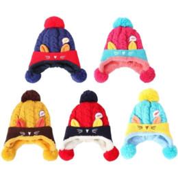 Cartoon Skull Children NZ - LASPERAL New Baby Boys Girls Woolen Hat Winter Warm Baby Hats Cartoon Printed Children Caps Hat Unisex