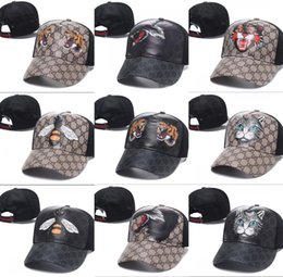 Discount baseball cap g - Fashion Strapback Cap Bee Tiger Wolf Canvas Men Women Hats Brand Designer bone Snapback Sports Outdoor G Caps casquette