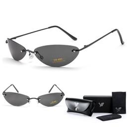 86de1c5e2c G Sunglasses UK - Matrix Morpheus Sunglasses Movie sunglasses men 13.9 g  Ultralight Rimless Classic Oval