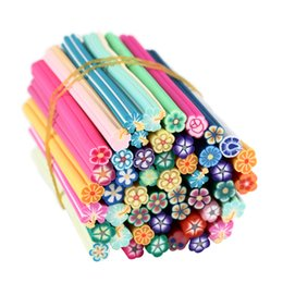Nail fimo online shopping - 50 Set D Nail Art Stickers Fimo Canes Stick Rods Polymer Clay Stickers Nail Decoration Beauty DIY Decals