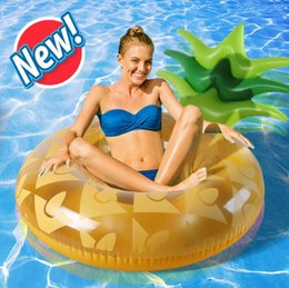 $enCountryForm.capitalKeyWord NZ - 120cm Inflatable Pineapple Swimming Ring Giant Pool Float Water Toys Mattress Child&Adult Beach Sea Party Air Mattress