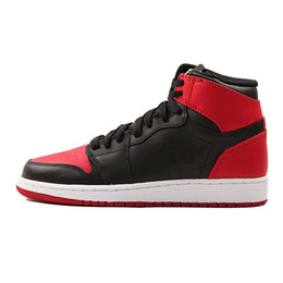 more photos 281e0 a5f01 Air Jordan 1 Nouveau 1 High OG avec boîte 1 blanc noir rouge hommes  chaussures de basket-ball baskets de sport baskets de course en plein air  en 1s top ...