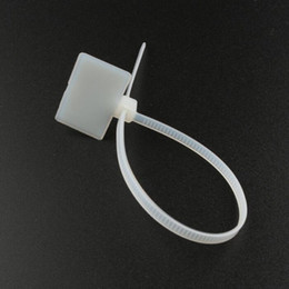 tie labels wholesale 2020 - 3*100mm Nylon Cable Tie With Label Tag Buckle Cable Sign Label Holder Free Shipping Wholesale ZA6309