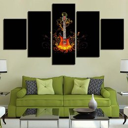 $enCountryForm.capitalKeyWord Canada - HD Canvas Living Room Frame Home Decor Modern 5 Panel Musical Instruments Guitars Printed Pictures Wall Art Poster Painting