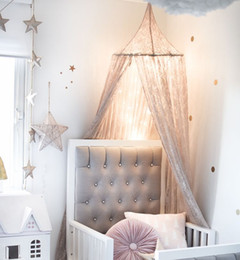 Hung Princess Bed Canopy Curtain Crib Netting Lace Baby Round Mosquito Net Children Room Decoration Photography Props Baby Tent & Baby Cribs Canopies Online | Baby Cribs Canopies for Sale