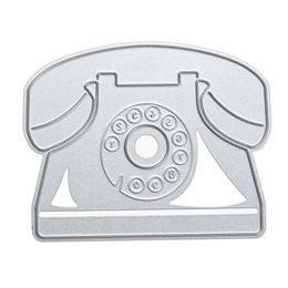 Stencil Cutters UK - Landline Telephone Design Decorative Metal Cutting Dies Stencil for Photo Album DIY Scrapbooking Embossing Dies Cutter