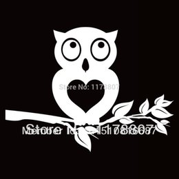 $enCountryForm.capitalKeyWord Australia - HotMeiNi Wholesale 20pcs lot Owl Heart Tree Sticker For Car Rear Windshield Truck SUV Bumper Auto Door Laptop Kayak Canoe Art Wall Vinyl