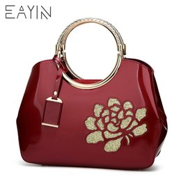2019 Fashion EAYIN Women Famous Brands Tote Bag Luxury Women Bags Designer  Famous Brands Bag Patent Lady s Lacquered Handbag Female Bags 6c30a78f3930