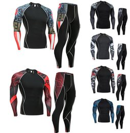 $enCountryForm.capitalKeyWord UK - men clothing compression union suit 2 piece tracksuit rashgard kit MMA 3D printed shirt tights long sleeve t shirt men leggings