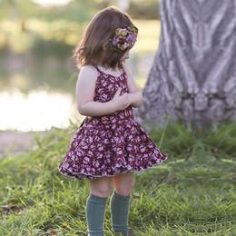 $enCountryForm.capitalKeyWord NZ - Toddler Girls Summer Cotton Dress Baby Girl Dresses Floral Strap Backless Dress Kids Princess Dress Vintage Flower Clothing