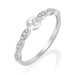 Chinese  925 Sterling Silver Ring Mounting Ring Accessory Rig Setting For Pearl DIY Jewelry Gift manufacturers