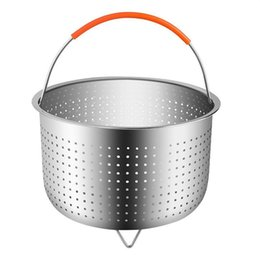 $enCountryForm.capitalKeyWord NZ - Stainless Steel Rice Cooker Steamed Basket Pressure Cookers Ironing Steamer Multi Function Fruit Cleaning Baskets 26cy ff