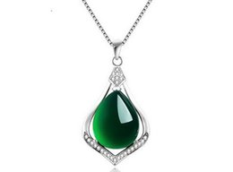 $enCountryForm.capitalKeyWord UK - Real 925 Sterling Silver Natural Jade Link Chains Pendants Necklaces for Women Sterling-Silver-Jewelry Brand Ataullah SSN005