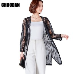 d9e7b7ea1e57ff Lace Cardigan Long Blouse Shirt Summer Top Full Sleeve 2018 New Fashion  Ladies Fitness Open Stitch Sun Protection Clothing Women