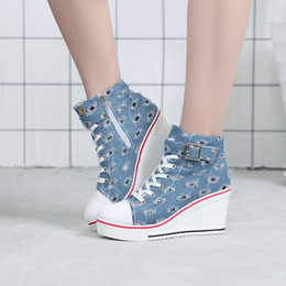 682ae599c724a Denim Canvas Wedges Shoes Online Shopping
