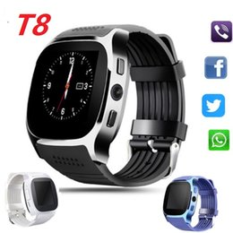 Cheap Remote Cameras Australia - New T8 Bluetooth Smart Watches Pedometer Support SIM TF Card With Camera Sync Call Message Cheap Men Women Smartwatch Watch