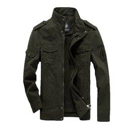 b44d3915 весна Мужские пальто армия хлопок куртки плюс размер 6XL вышивка мужская  куртка для аэронавтики militare пиджаки горячей продажи