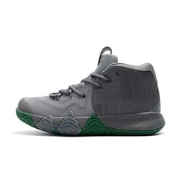 c665c6e0ce13 Cheap new 2018 Mens Kyrie Irving 4 IV basketball shoes Parquet Legends Cool  Wolf Grey Air flights 4s IV sneakers boots with box for sale