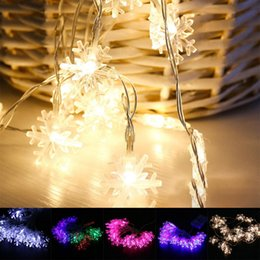 discount outdoor battery operated christmas string lights wholesale 2017 2m 20led snow led string