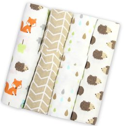 cotton blanket wholesale UK - Styles 4Pcs Lot Baby Blanket Newborn Muslin Diapers 100% Cotton Swaddle Blanket for Newborns Photography Muslin Swaddle Wrap