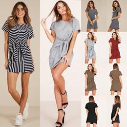 2018 Vestidos de las mujeres Vestidos Elegantes de noche Sexy Vestidos de fiesta de la vendimia con manga corta Club Casual Vendaje de ropa para mujer en venta