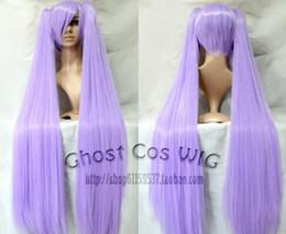 $enCountryForm.capitalKeyWord NZ - Lucky Star Long Fashion Purple Straight Cosplay Wig WIth Two Clip Ponytails z804