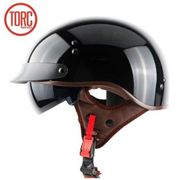 6d88aa32 TORC T55 half face motorcycle helmet with internal sunglasses DOT approved harley  helmet leisure and safety