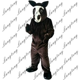 Horse Suit NZ - 2018 New high quality Brown Horse Mascot costumes for adults circus christmas Halloween Outfit Fancy Dress Suit Free Shipping