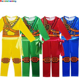 Discount ninja clothing - Ninjago Cosplay Costume Boys Clothes Sets Children Halloween Fancy Party Dress Up Ninja Cosplay Superhero Suits Boy Jump