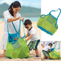 Solid colorS tote bagS online shopping - 8 Colors Mesh Beach Totes Portable Large Sand Away Beach Bag Beach Mesh Bag Shell Collect Storage Bags Foldable Shopping Bags CCA9978