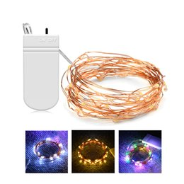bottle lights UK - Starry LED String Lights Fairy Micro LEDs 2M 5M Copper Wire Strip Lamp Holiday Christmas Wedding Light Glass Bottle Decoration