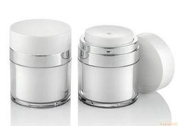 Acrylic cosmetic jAr white online shopping - 15g g g pearl white Acrylic vacuum cream jar plastic empty airless Cosmetic Jar