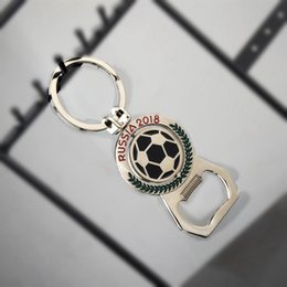 $enCountryForm.capitalKeyWord NZ - 2018 Russia World Cup Football Mascot Key Chain Bottle Openers Creative Football Key Chain Pendant Gift for Party Kitchen Supplies