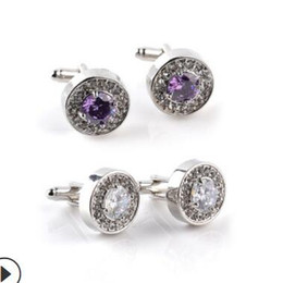 jewelry cuff links cuff crystal French cloth for wedding circle cuff hot fashion free of shipping on Sale