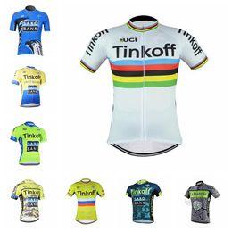 jersey cycling saxo green 2019 - 2018 Men Cycling Jersey TINKOFF SAXO BANK Short Sleeve racing bike shirts high quality summer tour de france bicycle clo