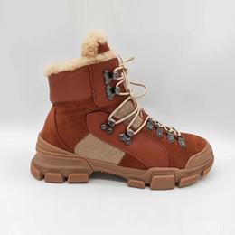 Flashtrek Botines para hombre Zapatillas de deporte Botas de invierno Blanco / Marrón / Negro Zapato grueso Martin Boots Moda Zapatos al aire libre con caja
