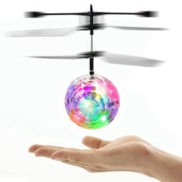 $enCountryForm.capitalKeyWord NZ - RC Toy RC Flying Ball Infrared Induction Helicopter Ball with Rainbow Shinning LED Lights and Remote Control Flying Toys for Kids