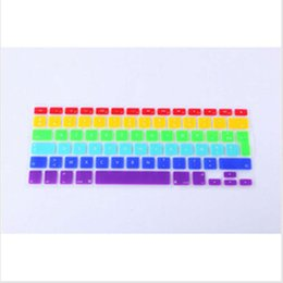 $enCountryForm.capitalKeyWord NZ - AZERTY French Euro Rainbow keyboard cover for  macbook Air Pro Retina 13 15 17 Protective Stickers for mac book laptop Skin